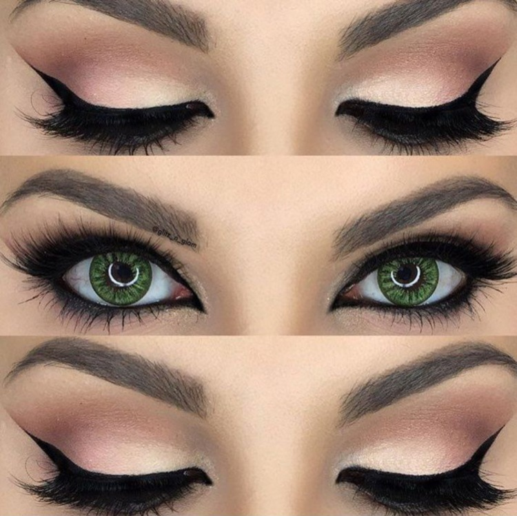 Зеленые глаза: красивые тени