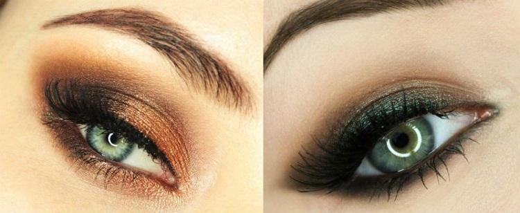Макияж для зеленых глаз с зелеными тенями