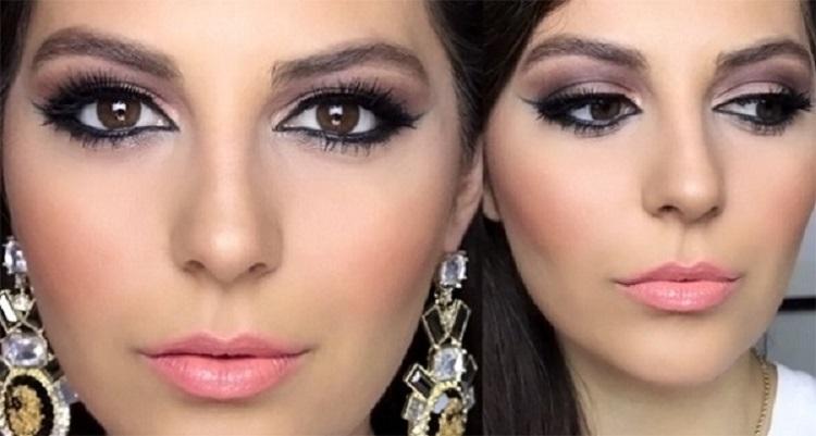 Восточный макияж для карих глаз - разновидности с фото