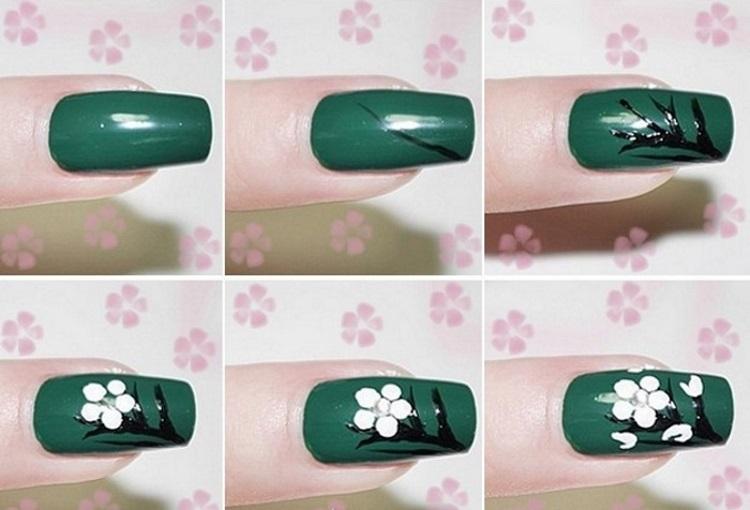 На зеленом ногте