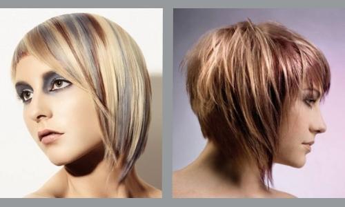 Бразильско-французское мелирование на русые волосы