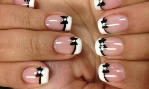 Эксперементируйте с френчем на коротких ногтях и не пожалеете