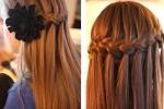 Как плести косу водопад - подробная инструкция