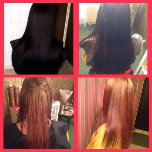 Фото результата смывки краски с волос дома