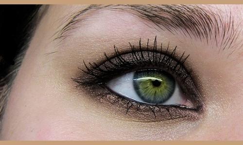 Фото зеленых глаз с макияжем смоки айс