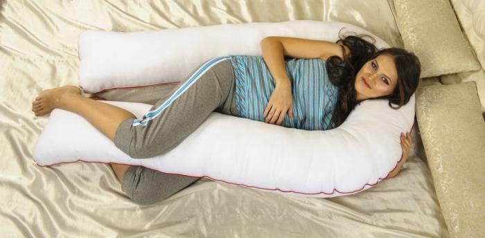 Подушка для беременных в форме подковы