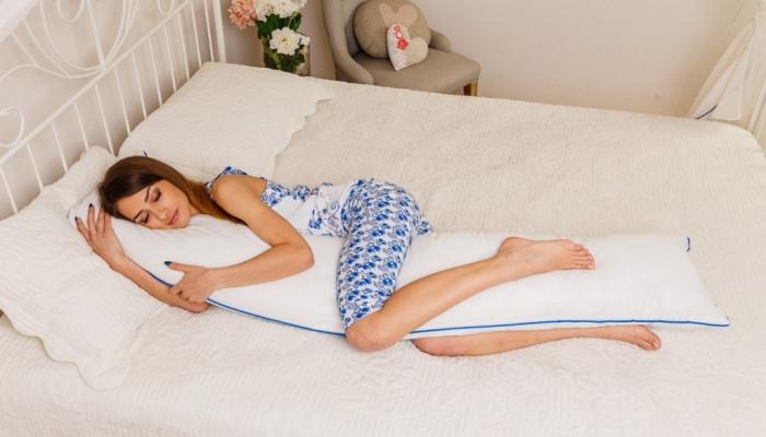 Прямая I-образная подушка для беременных