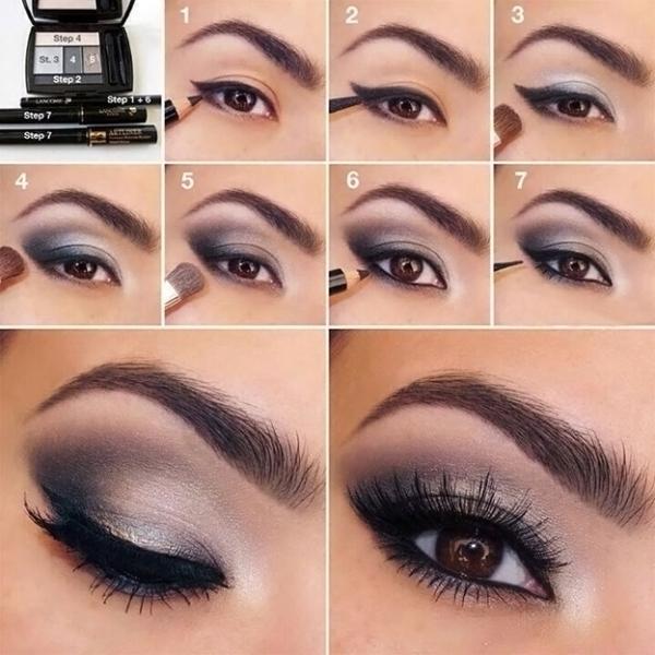 Вариант восточного макияжа для карих глаз
