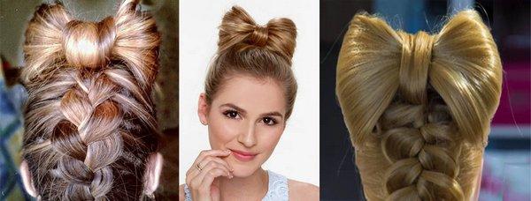 Прическа Бант из волос - варианты и сложности выполнения своими руками