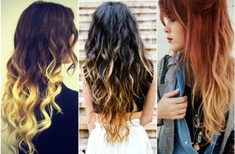Экстравагантные цвета при окрашивании балаяж на русые волосы