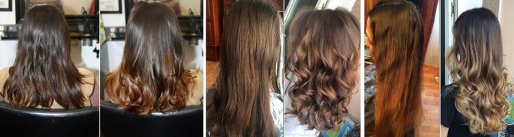 Фото покраски в стиле балаяж до и после проведения окрашивания