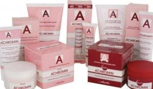 Крем Ахромин не только отбеливает кожу, но и удаляет пигментные пятна