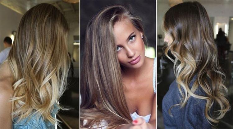 Окрашивание светло-русых волос в стиле балаяж