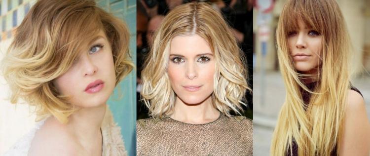 Особенности покраски шатуш на короткие, средние и длинные светлые волосы
