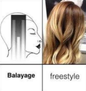 Техника окрашивания балаяж на светлых волосах своими руками