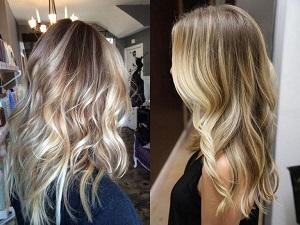 Как делают колорирование на светлые волосы в салоне и в домашних условиях