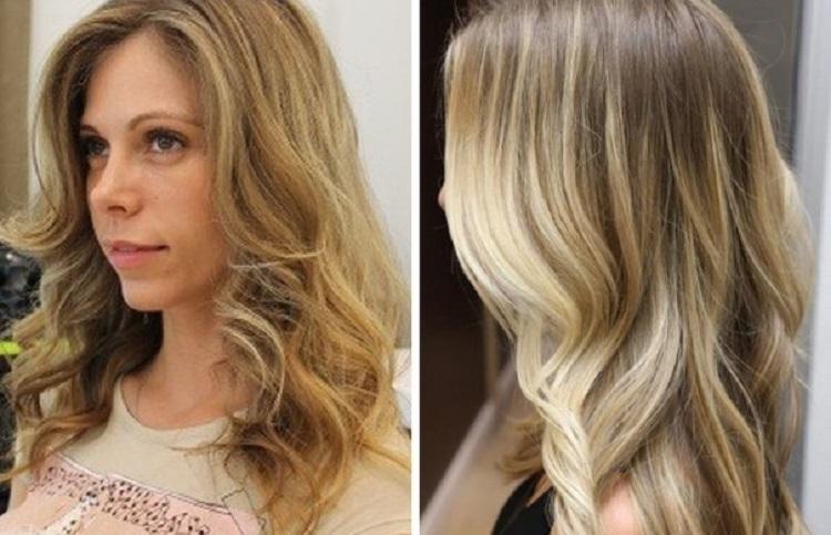 Колорирование светлых волос -фото до и после