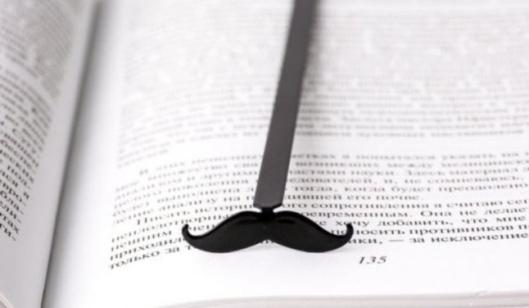 Закладка для книг - усы для папы