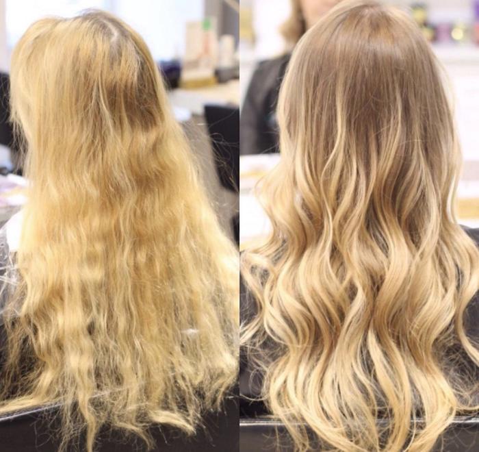 Брондирование светлых волос - результаты на фото до и после