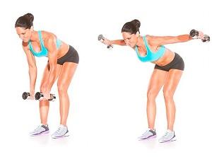 Упражнения для рук с гантелями для женщин - основной комплекс тренировок