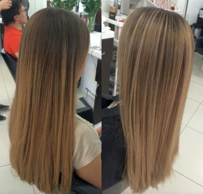 Брондирование на русые волосы: фото до и после окрашивания
