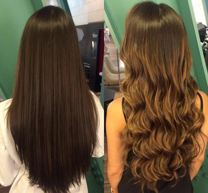 Брондирование темных волос: фото до и после окрашивания