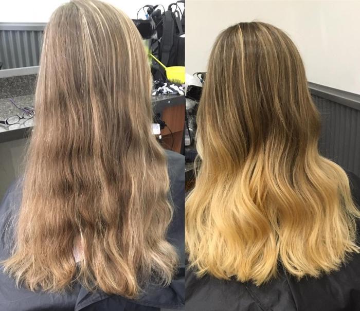 Брондирование русых волос: фото до и после процедуры
