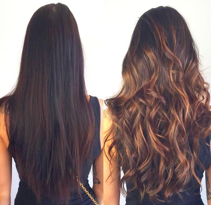 Брондирование на темные волосы: фото до и после покраски