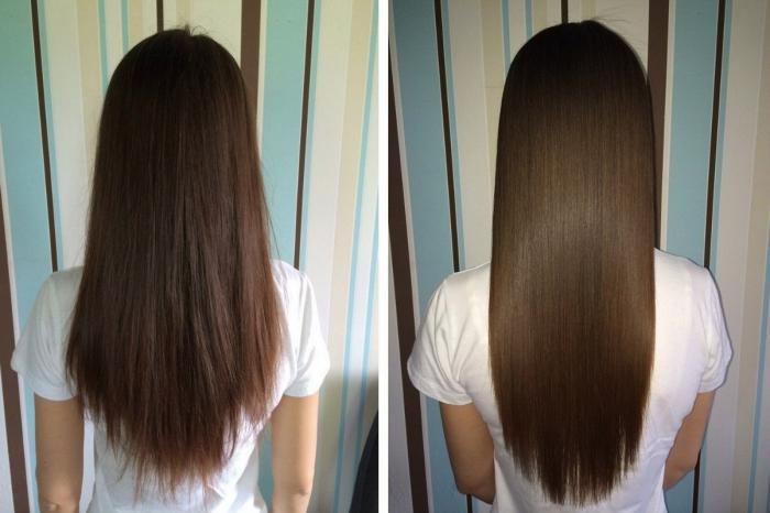 Действие репейного масла на волосы, фото до и после