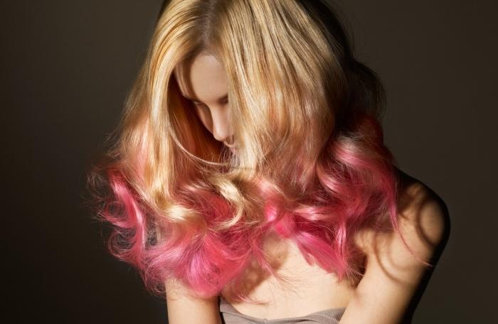 Окрашивание омбре на волосы средней длины на фото