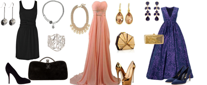 Аксессуары для нарядного платья