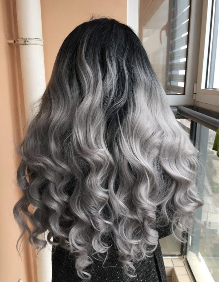 Окраска волос омбре на длинные волосы, фото