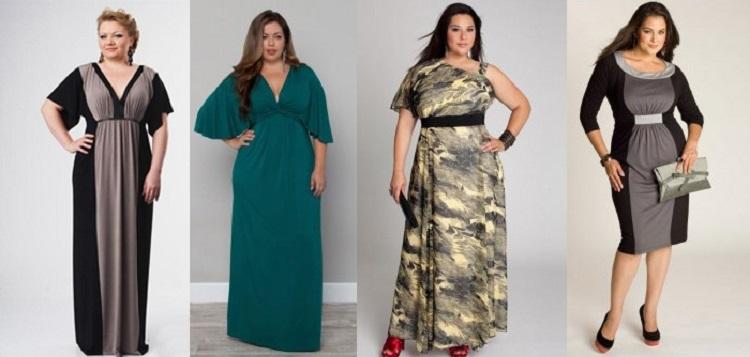 Фасоны вечерних платьев для полных женщин - обзор самых модных