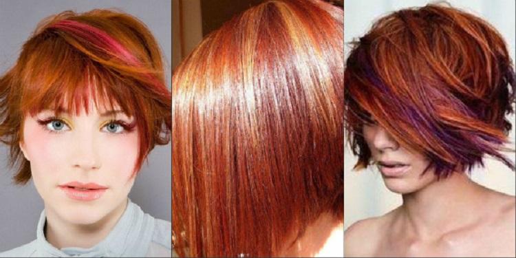 Как проводится мелировнаие на рыжие волосы - особенности процедуры