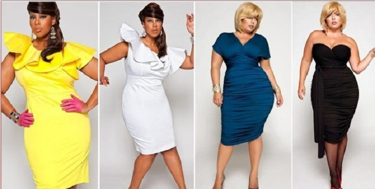 Какой должна быть длина платья на торжество для полных женщин