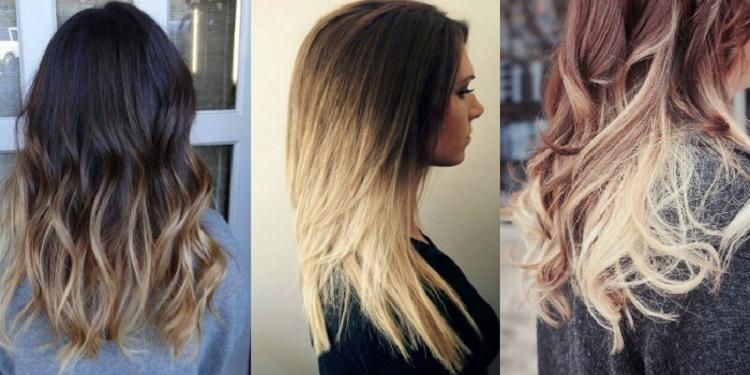 Окрашивание в стиле омбре - как смотрится на русых волосах средней длины