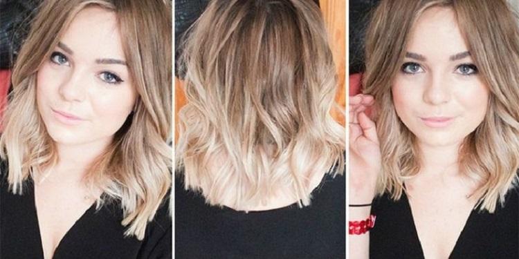 Окрашивание в стиле омбре на русых волосах средней длины и варианты такой покраски