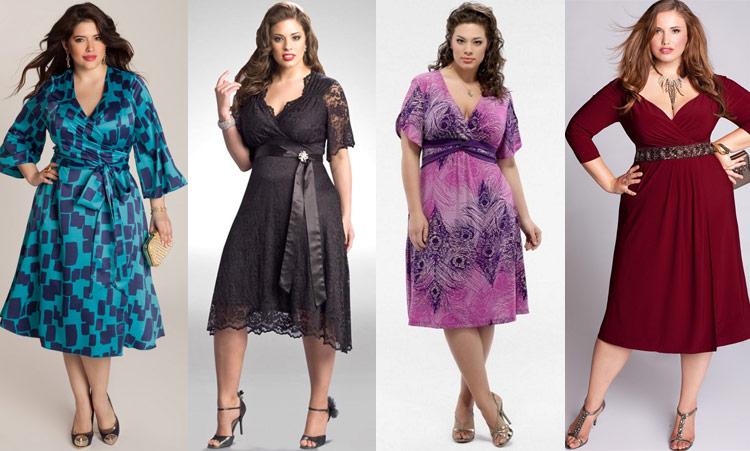 Основные рекомендации при выборе платья на торжество для полных женщин