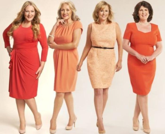 Цвет платья для женщины 50 лет
