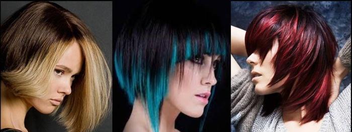 Цвет волос при цветном окрашивании омбре на короткие волосы