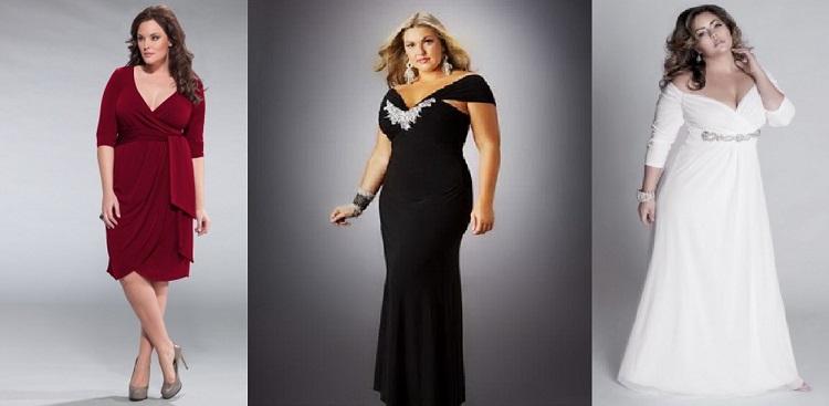 Варианты длинных и коротких вечерних платьев для полных женщин платьев