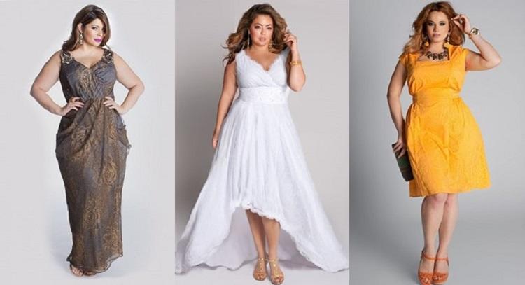 Варианты платьев на торжество для полных женщин и выбор аксессуаров