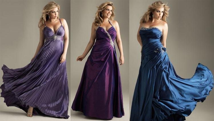 Вечерние платья для полных женщин - каким должен быть вырез