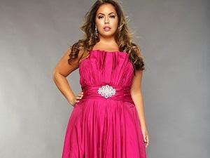 Вечерние платья для полных женщин на торжество - полезные рекомендации