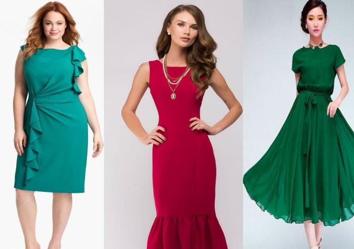 Воланы и оборки для платья женщины 50 лет