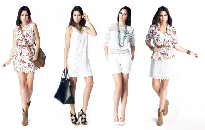 Сочетание цветов в одежде для женщин: романтический стиль