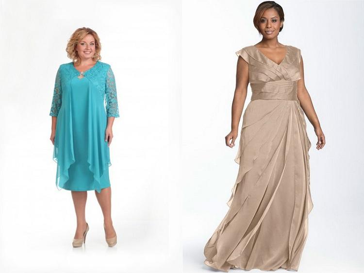 Фото - женщины в нарядных модных платьях