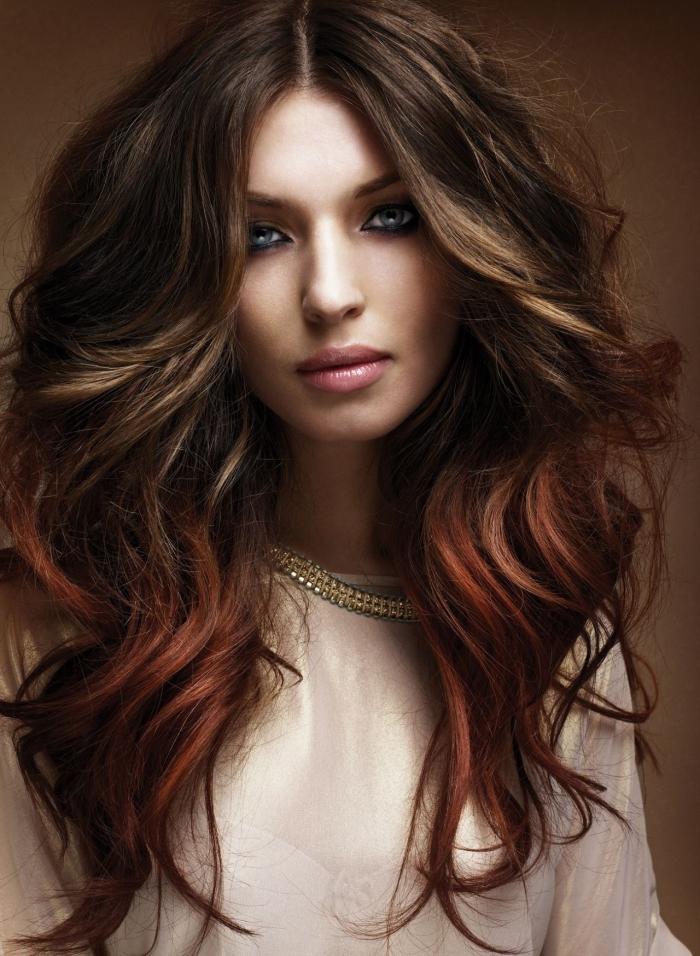 Покраска омбре на длинные волосы, фото
