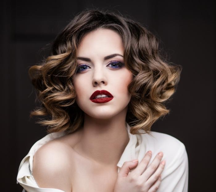 Покраска волос омбре на средние волосы, фото