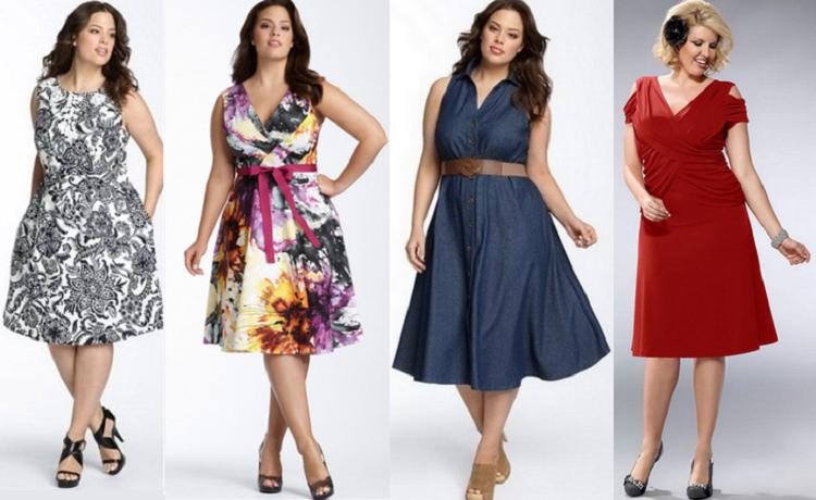 Модные платья для полных женщин - как подобрать цвет наряда